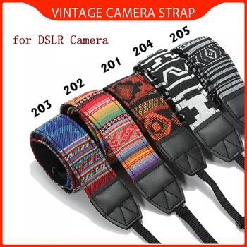 LEORY wiatr aparat szyi pasek na ramię pasek od aparatu miękka lustrzanka DSLR trwała bawełna dla Nikon dla Canon dla Sony Vintage hurtownia tanie i dobre opinie Polyester Camera strap Belt strap