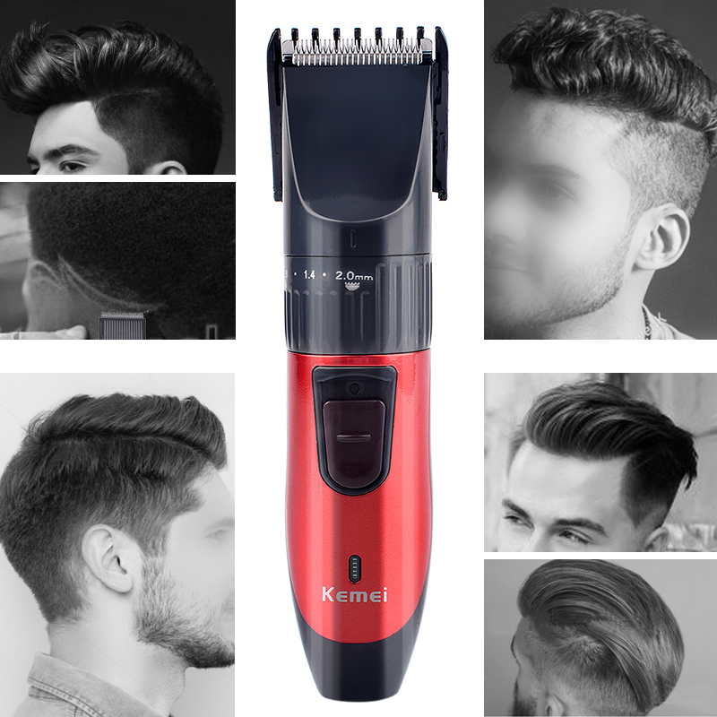 Image 2 - Kemei KM 730 Rechargeable Dry Dual use Hair Clippers Professional Hair Cutting Machine for Men Trimmer Hair Trimmer Haircut KitHair Trimmers   -