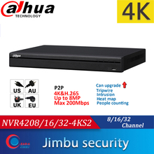 Dahua NVR 4K video recorrder NVR4208 4KS2 8CH NVR4216 4KS2 16CH NVR4232 4KS2 32CH H.265/H.264 Up to 8MP Resolution