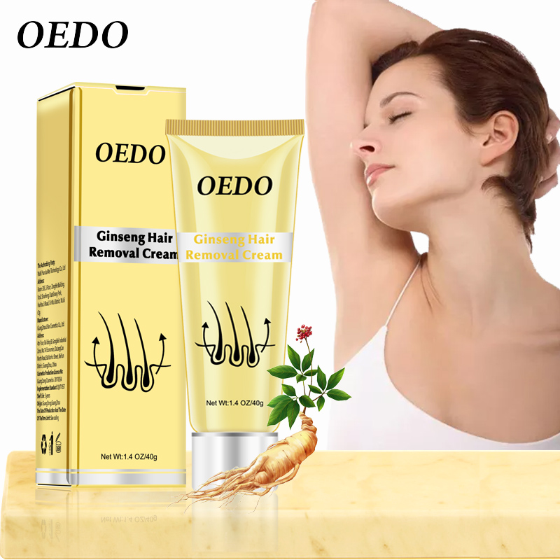 OEDO Ginseng Body Hair Removal Cream For Men And Women Hand Leg Hair Loss Depilatory Cream Removal Armpit Depilatory Cream