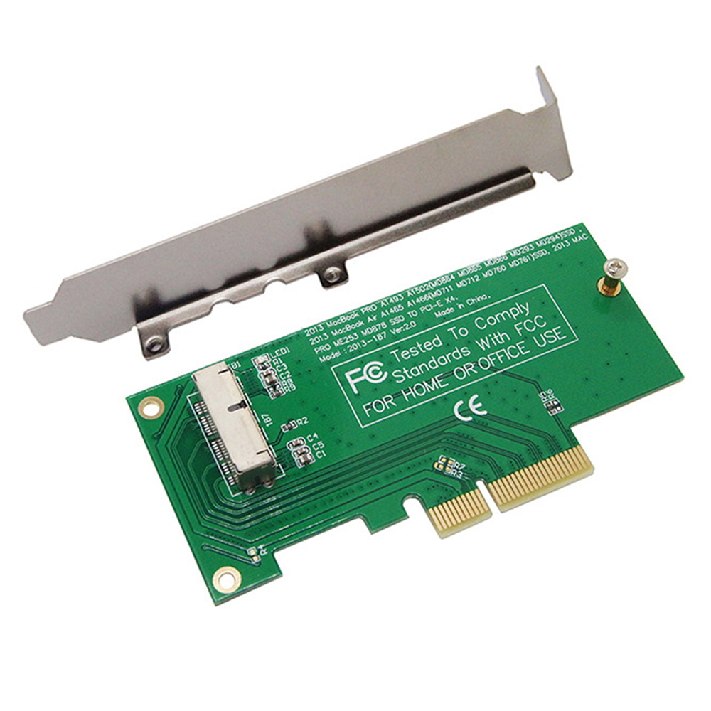 Adapter Riser Card to PCI Express PCIE PCI-E X4 for Apple 2013 2014 2015 for MacBook Air A1465 A1466 Mac Pro MD878 ME253 M.2 SSD