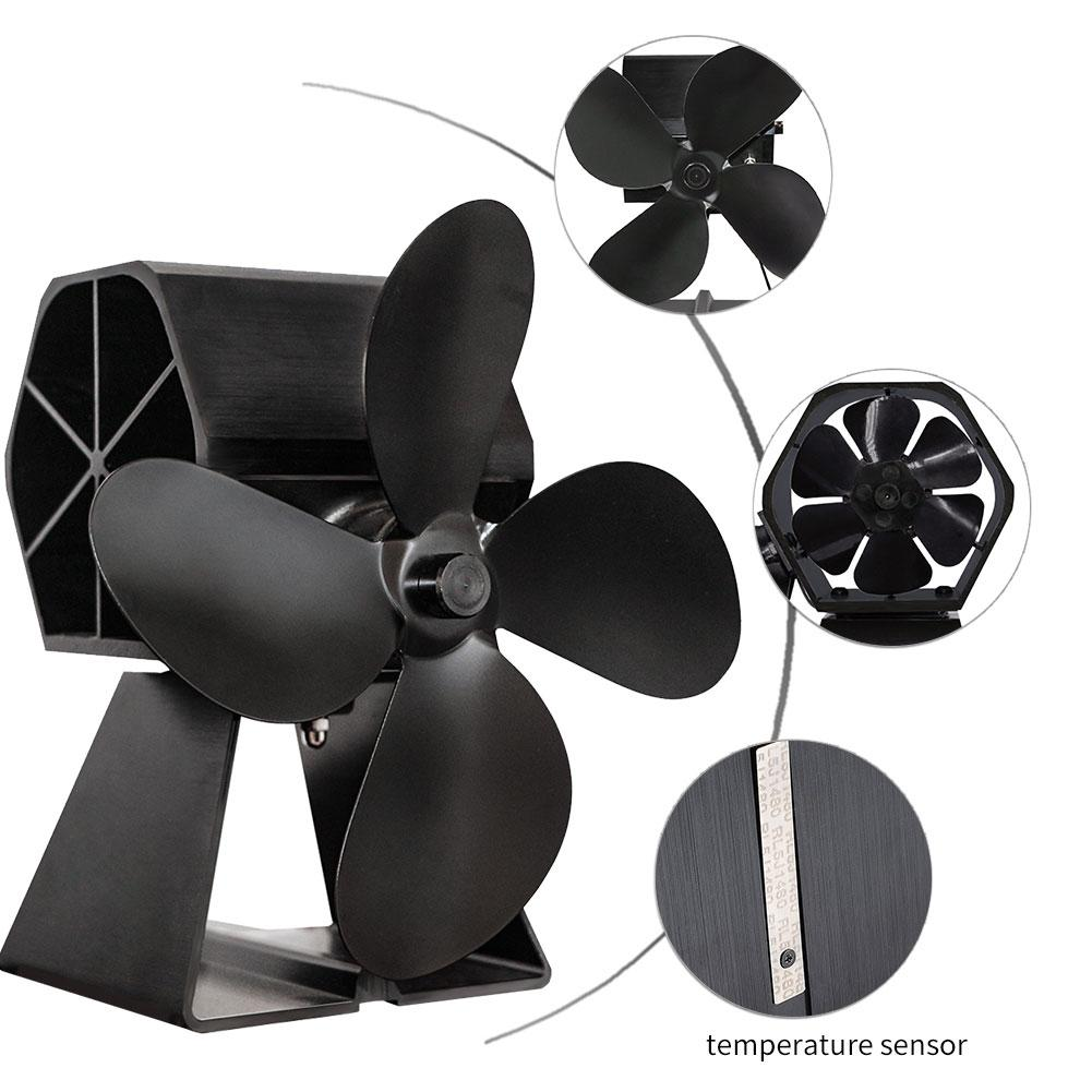 Hot Power Heat Furnace Fan Heating Fan Heat Powered Eco Friendly Stove Fan For Wood Log Burner Fireplace