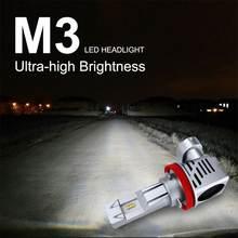 H7 светодиодный лампы 9005 hb3 9006 hb4 лампа автомобилей головной