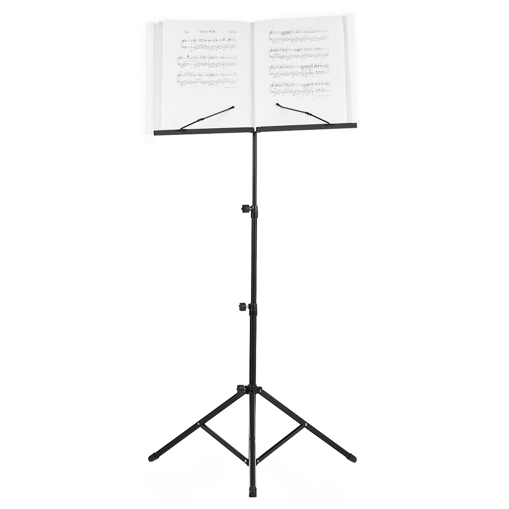 Foldable Sheet Music Tripod Stand Holder Lightweight with Water-resistant Carry Bag for Violin Piano Guitar Musical Performance