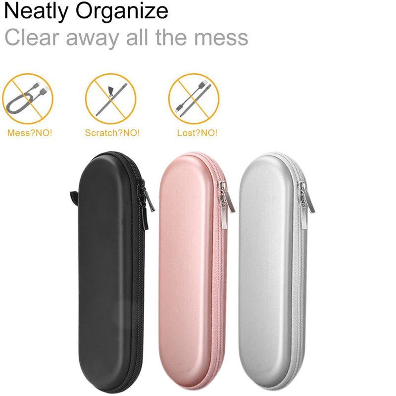 Portable EVA Hard Shell Carry Storage Pencil Case Bag Pouch Cover Applicable For Apple Pen 1/2 Generation Universal Accessories