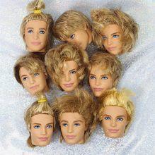 Cabelo curto príncipe ken namorado boneca cabeça de brinquedo masculino boneca cabeça de brinquedo diy boneca peças de brinquedo crianças presente aniversário presentes da menina
