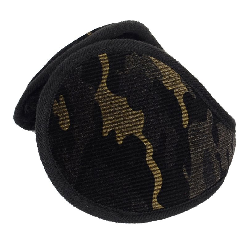 Unisex Winter Camouflage Velvet Earmuffs Plush Lining Behind Head Ear Warmers