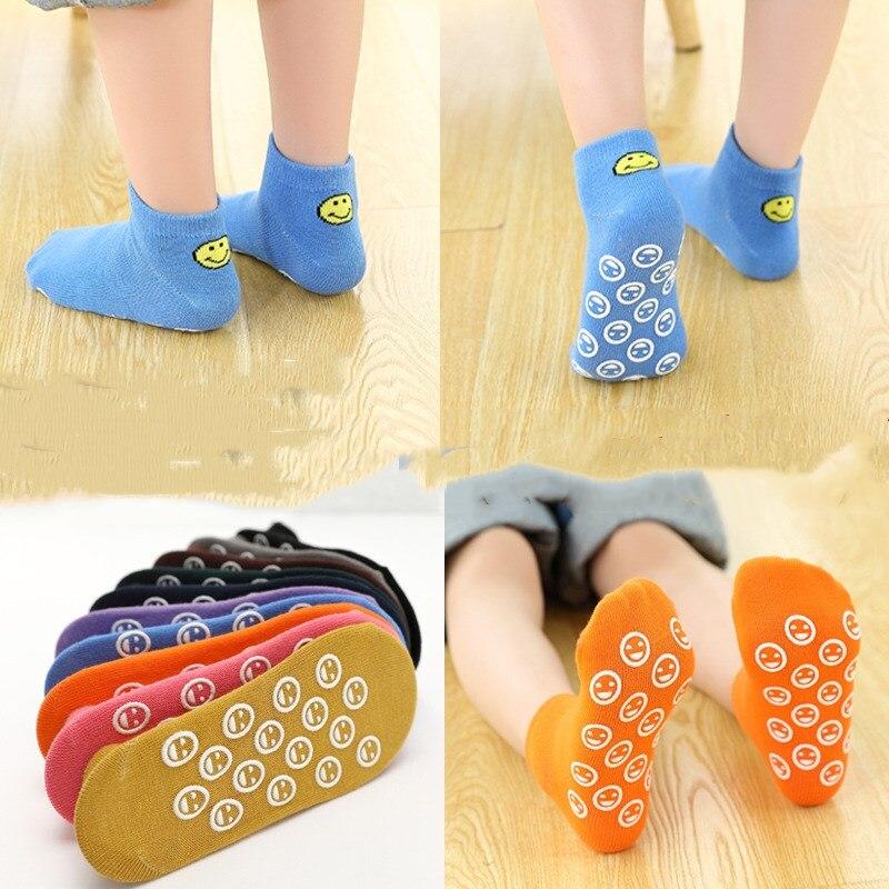 2pair/lots New Smile Floor Socks Children's Non-slip Cotton Socks Indoor Home Set of Adult Yoga Socks Baby Early Education Socks 1