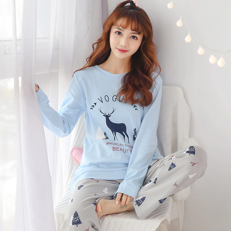 2020 Spring Summer New Stylish Pajamas For Women Soft Cotton Casual Female Pyjamas Girl's Sleepwear Indoor Wear Good Quality