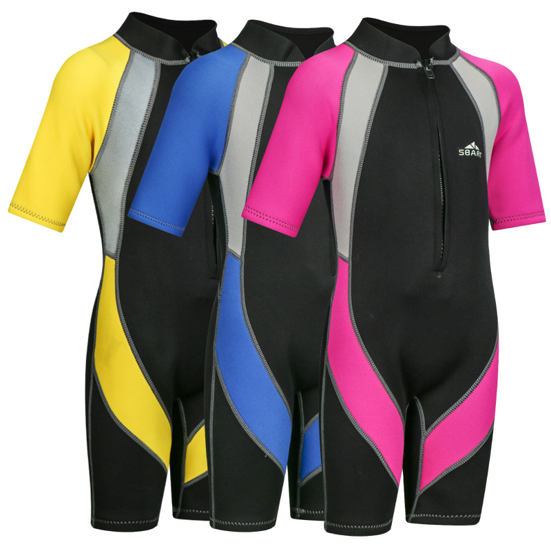 Sbart 2mm Snorkeling Quick-Dry One-piece Cute Small Middle And Large Sun-resistant Diving Suit Men And Women Children Diving Sui