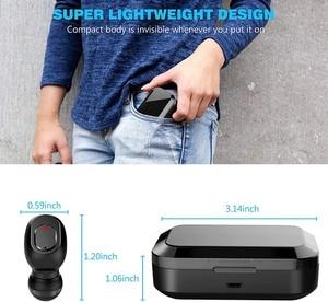 Image 4 - New D2 Wireless Headphones Bluetooth 5.0 Earphone TWS HIFI Mini In ear Sports Running Headset SupportPhones HD Call Game Noise