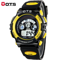 OTS Kids Watches Multifunction Waterproof Child Digital LED Sports Alarm Date Sports Wrist Watch Boys Girls Watch Gifts
