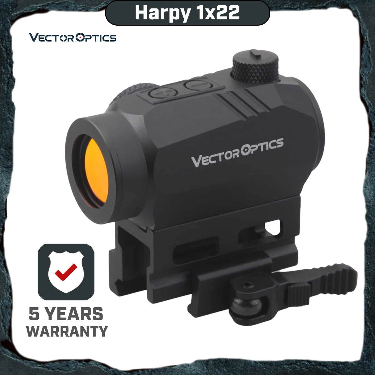 Vector Optics Harpy 1x22 Red Dot Sight Scope With QD Riser Picatinny Mount