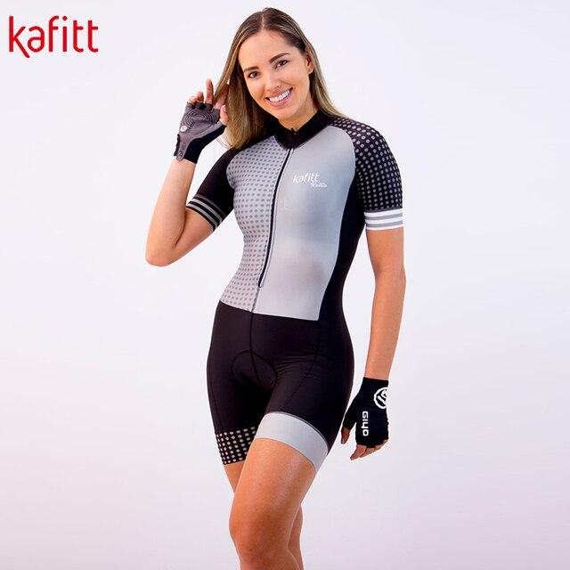 Kafitt camisa de ciclismo feminino profissional triathlon collants macacão maillot ropa ciclismo macacão feminino conjunto verão 5