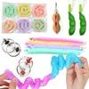 Fidget Antistress Set Children Sensory Toys Wacky Tracks Pop Tubes Squeeze Peas Beans Dinosaur Adults Stress Relief Kids Gifts