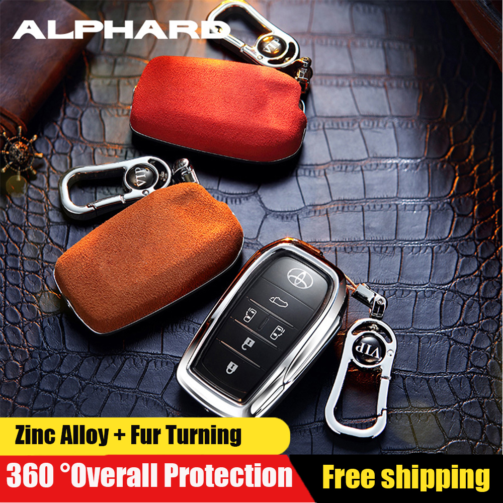 Fits For Toyota C-HR CHR 2018 2019 Smart Key Fob Metal Cover Holder Case Black