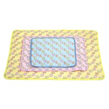 Pet Summer Cats And Dogs Cold Feeling Cooling Ice Beds Mats 100*70cm Blue Large недорого