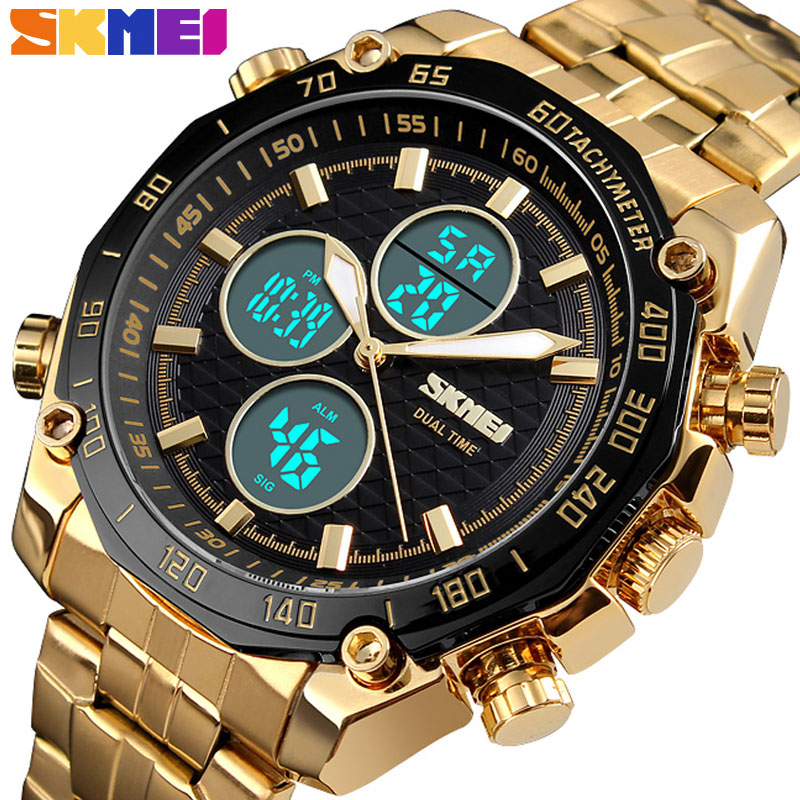 watch naviforce sport men doobo Top Luxury Brand Military Quartz Watches Stainless Steel LED Digital Clock Relogio Masculino image