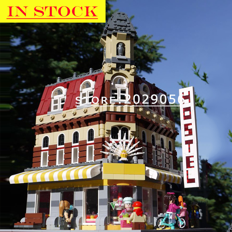 Street View Fire Brigade <font><b>10197</b></font> 15004 In Stock Building Blocks 2200+Pcs Creator Expert king 84004 99009 15001 15002 84002 image