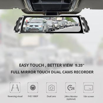 Full Screen Smart Rearview Mirror HD Driving Recorder 10 Inch Dual Lens Rearview Mirror Driving Recorder Reversing Image