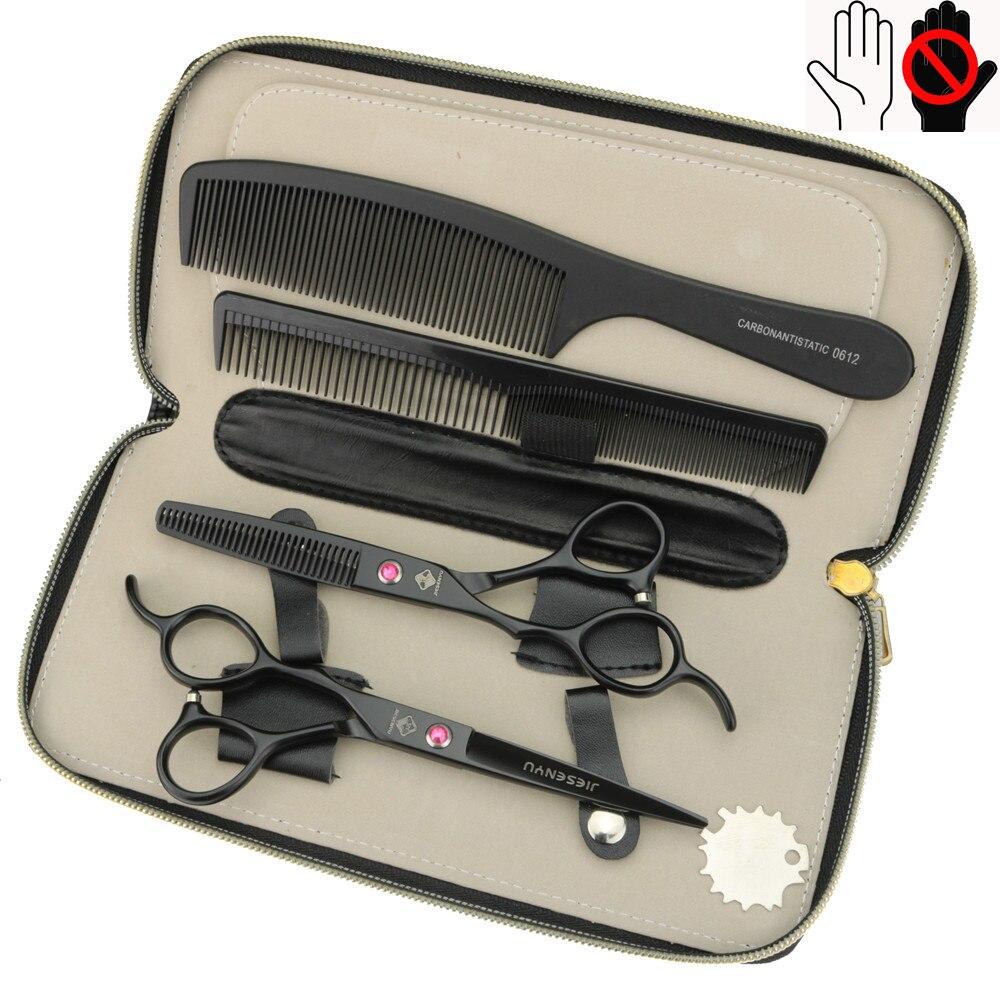 Negro 6 pulgadas mano izquierda tijeras de peluquería 440C peluquería profesional tijeras set DIY, reloj gigante de pared para barbería, con efecto espejo, kits de herramientas para peluquero, reloj decorativo sin marco, reloj, peluquería, arte de pared para peluquero