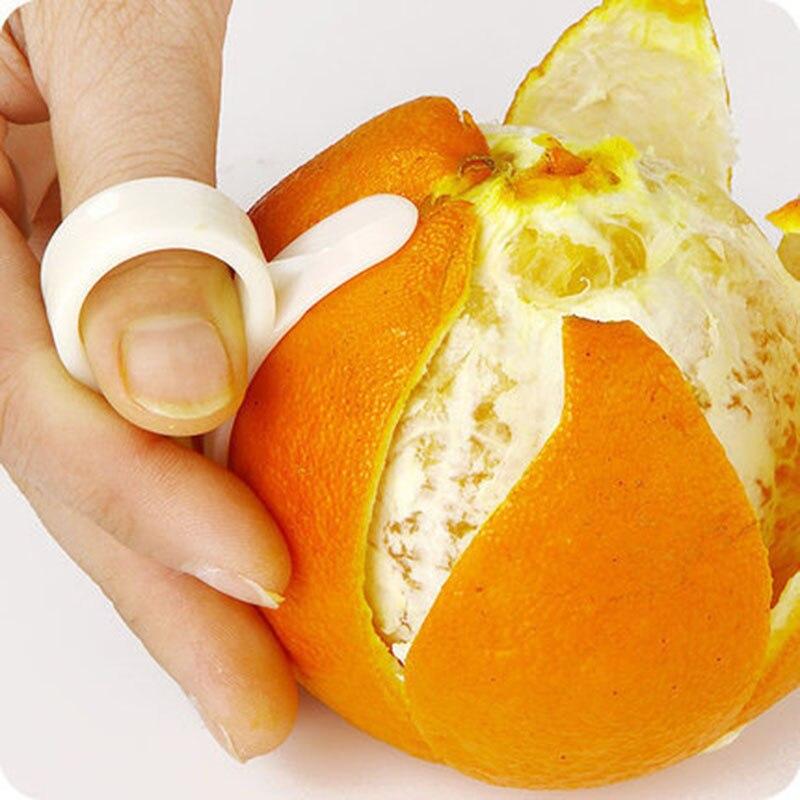 Orange Kitchen Gadgets Peeler Cooking-Tools Finger-Type Plastic Ring 1pcs Parer