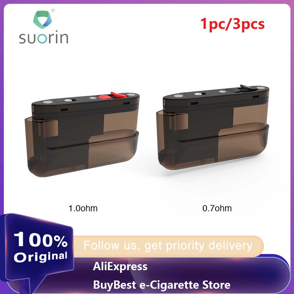 1pc 3pcs <font><b>Suorin</b></font> <font><b>Air</b></font> <font><b>Plus</b></font> <font><b>Pod</b></font> <font><b>Cartridge</b></font> 3.5ml Capacity <font><b>Pod</b></font> System Vape Vaporizer for <font><b>Suorin</b></font> <font><b>Air</b></font> <font><b>Plus</b></font> <font><b>Pod</b></font> Kit vs <font><b>Suorin</b></font> <font><b>AIR</b></font>/ Drag image
