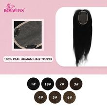 WIGS Hairpieces Toupee Human-Hair Women for 60g 100%Remy K.S 14inch 10--13cm