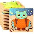 Hohe Qualität 3D Holz Puzzles Pädagogisches Cartoon Tiere Frühen Lernen Erkenntnis Intelligenz Puzzle-Spiel Für Kinder Spielzeug