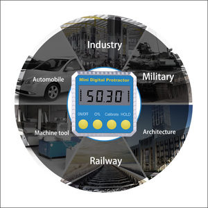 Image 4 - RZ Angolo di Goniometro Conico Universale 360 Gradi Mini Elettronico Digitale Goniometro Inclinometro Tester Strumenti di Misura MT2010
