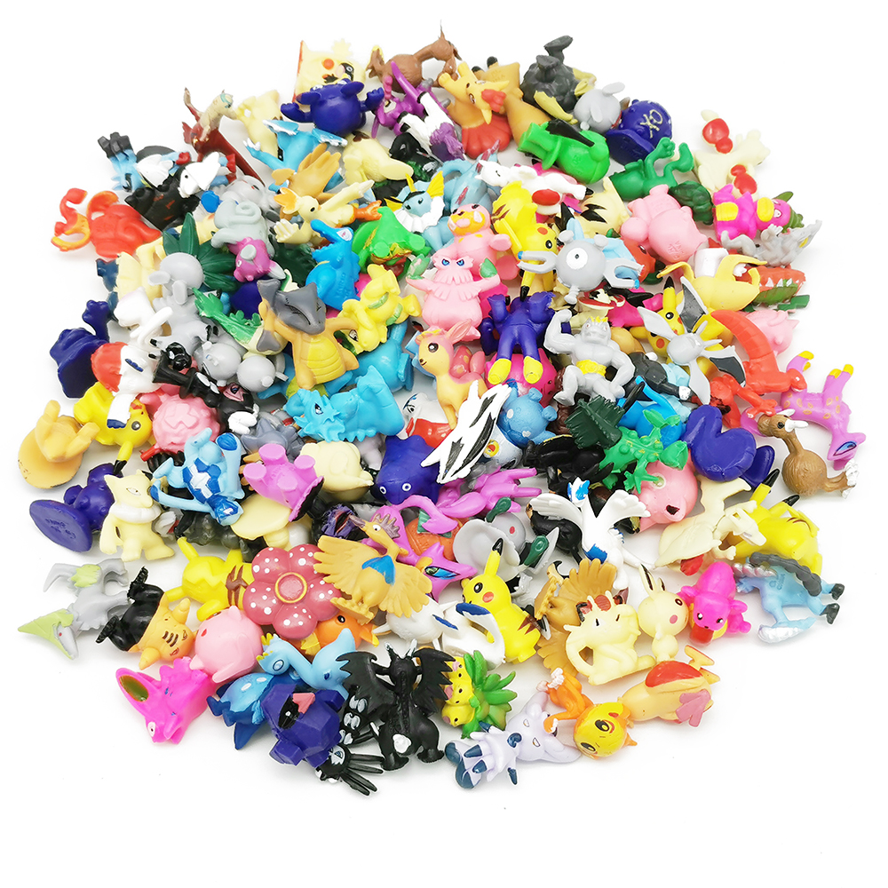 144 Different Styles 2.5-3cm 24pcs/bag Anime TAKARA TOMY Pokemones Figures Action Toy Figure Toys Birthday Gifts For Kids