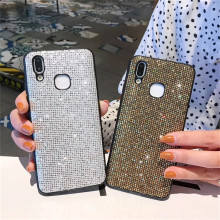 Bling Glitter Rhinestone Phone case For iphone 6 6S 7 Plus X XR XS MAX Diamond Sequins Protector Cases Back Cover