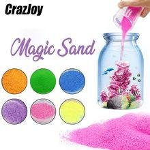 50g não molhado areia mágica para crianças arte brinquedos kit não molhado cor movente garrafa de areia conjunto lodo brinquedo engraçado educacional para presentes das crianças