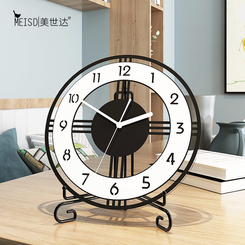 Brief Round Table Clock Modern Design Desk Watch 3d Clock Home Decor Silent Livingroom Bedroom Table Vintage Watch Desk Clock Hot Sale 53861 Cicig
