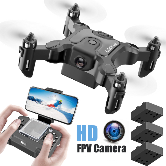 New Mini Drone V2 1080P HD Camera WiFi Fpv Air Pressure Altitude Hold Foldable Quadcopter RC Drone Kid Toy GIft 1