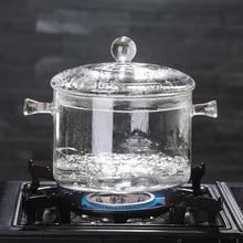 Кастрюля из боросиликатного стекла может нагреваться в электрической керамической печи со стеклянной сковородой, покрытой стеклянной пузырьковой чашей