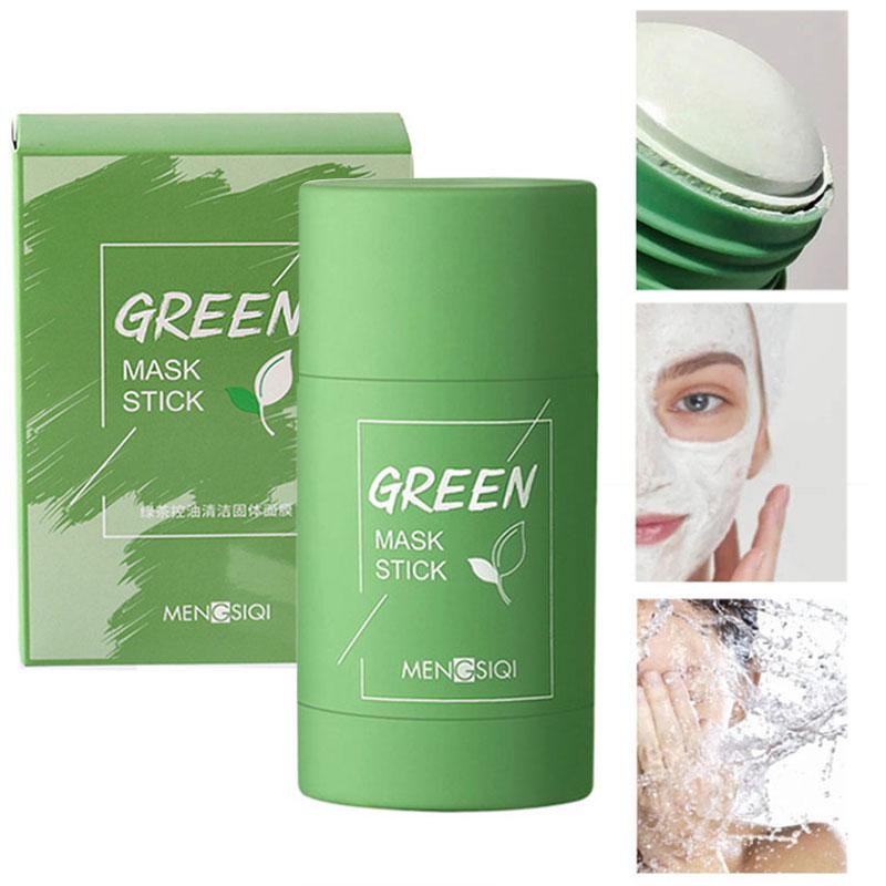 Mascarilla verde con control del acné, mascarilla verde para la piel Facial, 1 Uds.