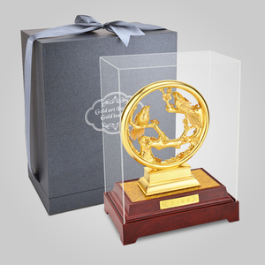 Image 5 - 3Dゴールドカササギ置物装飾品 24 18kゴールド箔結婚式の装飾ラッキー富デスクトップ工芸品ホームオフィスの装飾の結婚ギフト