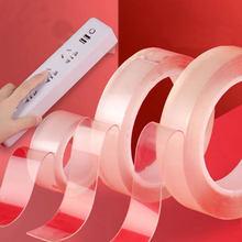 1PC Durevole 1M/2M/3M Nano Magic Tape Nuovo Nastro Biadesivo Trasparente Senza traccia Riutilizzabile Impermeabile Nastro Adesivo Lavabile