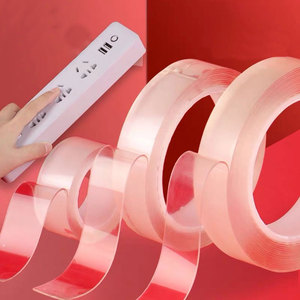 1PC Durable 1M/2M/3M Nano Magic Tape New Double Sided Tape Transparent No Trace Reusable Waterproof Adhesive Tape Cleanable