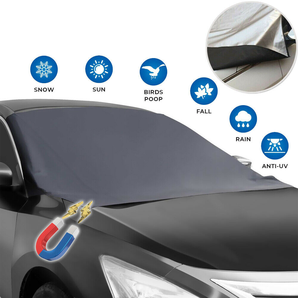 Windshield Snow Ice Cover Magnetic Large Car Covers SUV Truck Mirror Snow Covers 82 /× 62 Fit Any Car