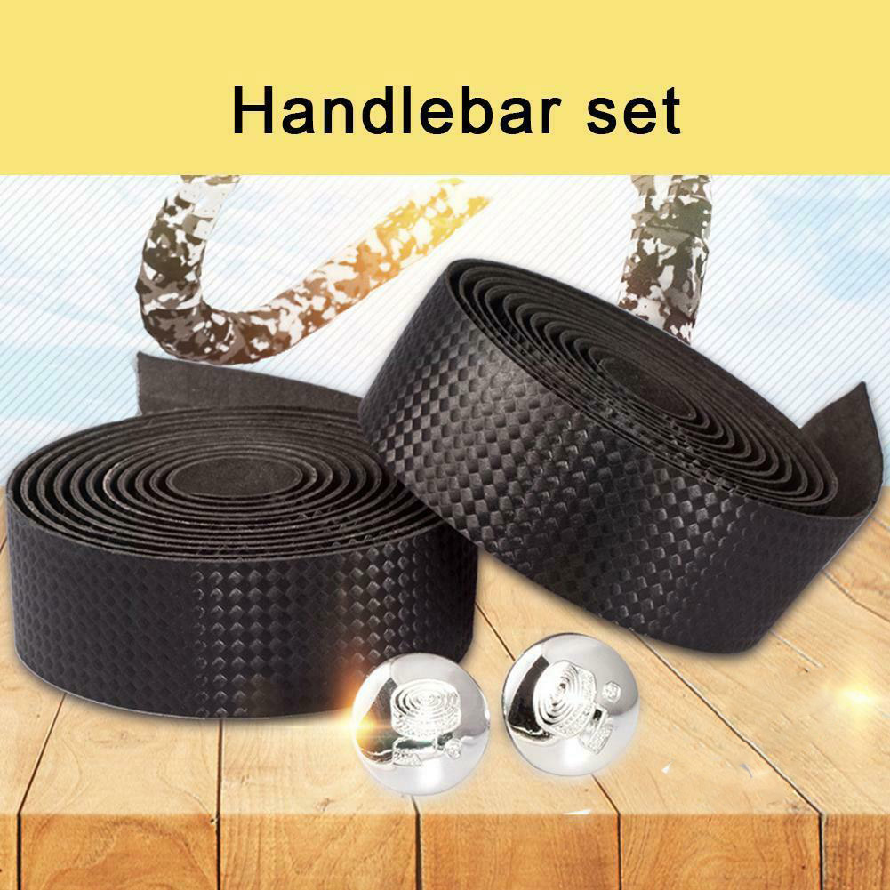 Road Bike Handlebar Tape Mountain Bike Straps Non-Slip Breathable Sweat-Absorbent PU Leather Strap  HB88