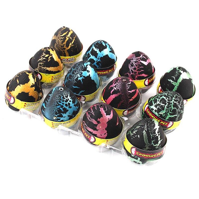 1 pièce dinosaure oeuf à couver bulle eau Expansion jouet enfants éducation créative étrange drôle cadeau enfants jouets couleur aléatoire
