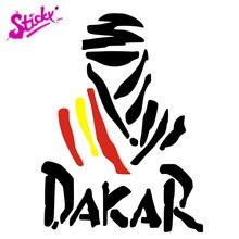 Pegajoso dakar espanha logotipo emblema marca etiqueta do carro decalque decoração do vinil capacete do carro moto bicicleta skate board motocicleta fora-estrada