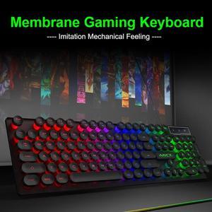 Image 5 - IMICE AK 800 clavier mécanique USB filaire sentiment 104 touches rvb rétro éclairé jeu Silicone claviers pour ordinateur portable PC de bureau