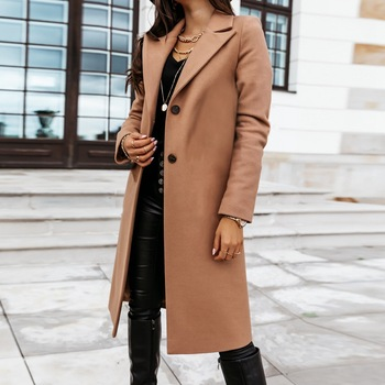 Down Collar Trench Coat 1