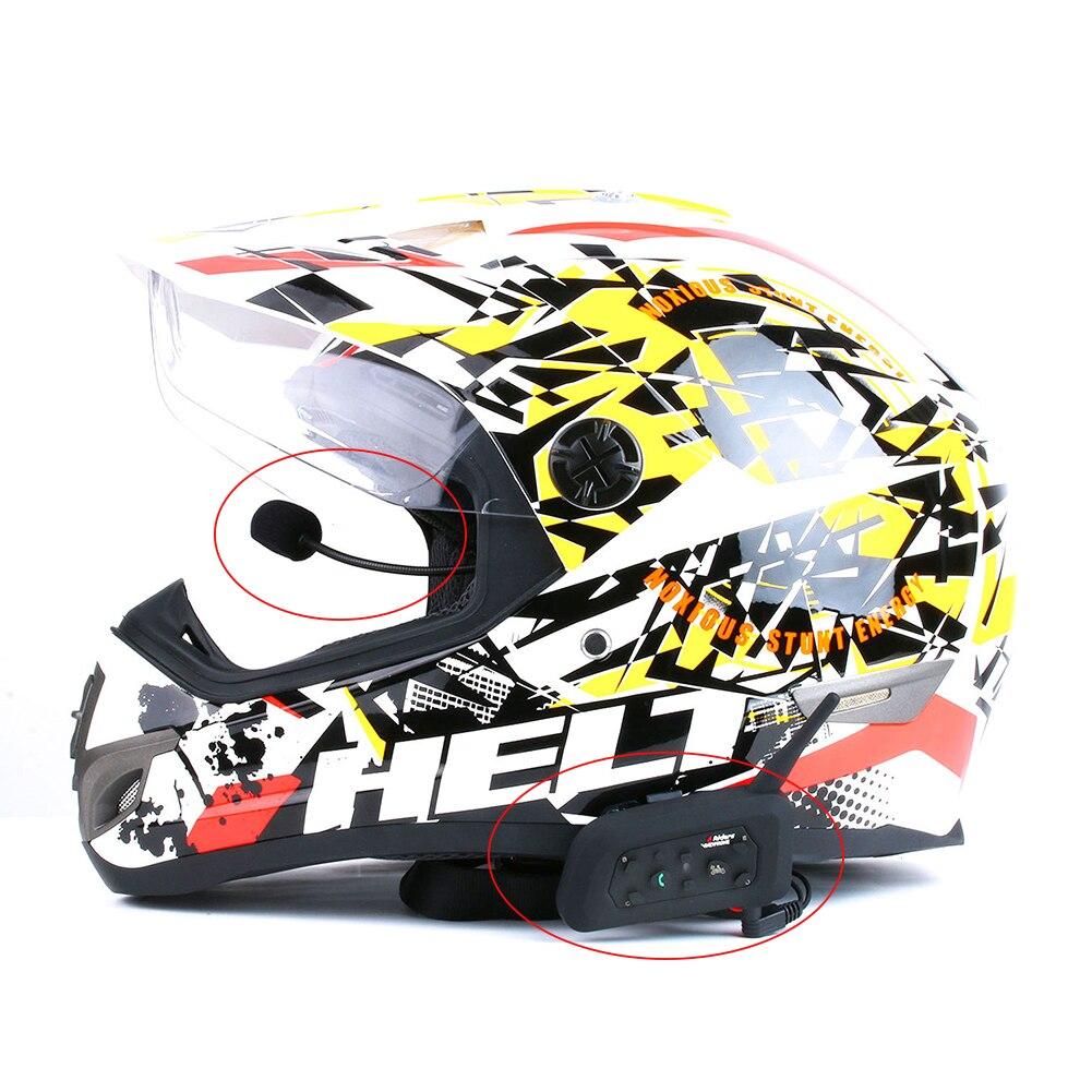 Durable Tragbare Geschenk Kopfhörer Zubehör Sprech Headset Bluetooth Intercom Motorrad Helm Anti-slip Werkzeug Für V4 V6