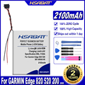 Аккумулятор HSABAT 361-00043-00 2100 мАч для Garmin Edge Explore 820 Edge 520 500 200 205 GPS Edge 520 plus Edge820 Edge 820
