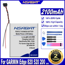 Hsabat 361-00043-00 2100mah bateria para garmin edge explorar 820 borda 520 500 200 205 borda gps 520 mais borda edge820 820
