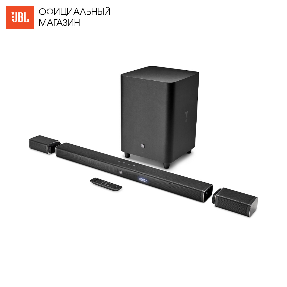 цена Home Theatre System JBL BAR51BLKEP Electronics Audio music centre subwoofer Video sound bar wireless acoustic system 5.1 онлайн в 2017 году